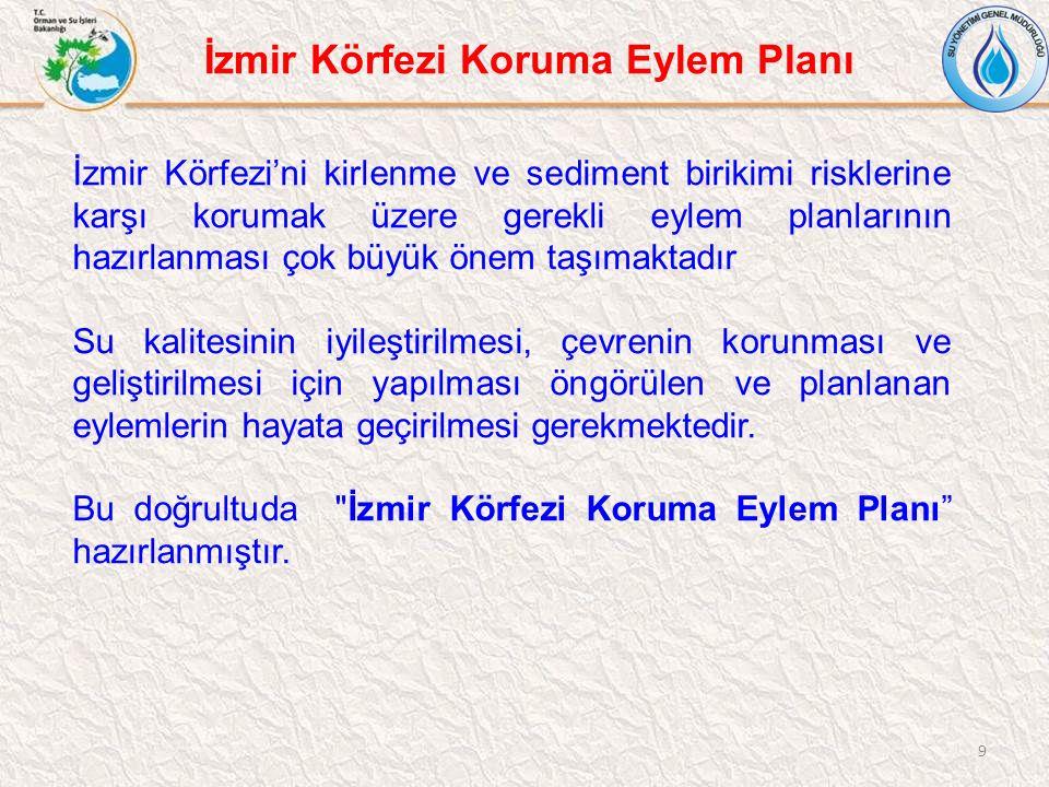9 İzmir Körfezi'ni kirlenme ve sediment birikimi risklerine karşı korumak üzere gerekli eylem planlarının hazırlanması çok büyük önem taşımaktadır Su