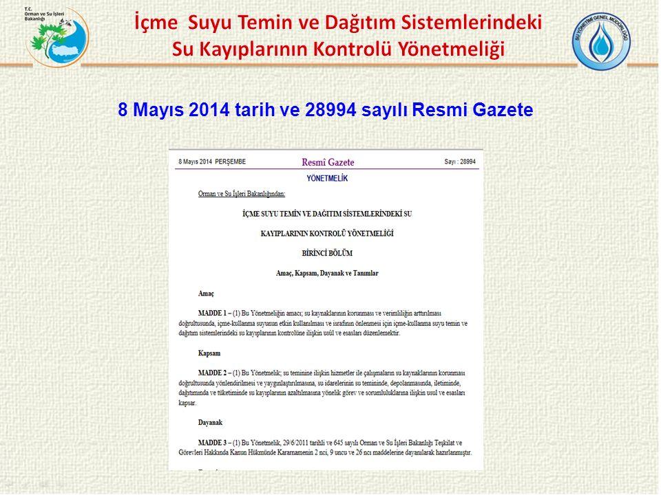 8 Mayıs 2014 tarih ve 28994 sayılı Resmi Gazete
