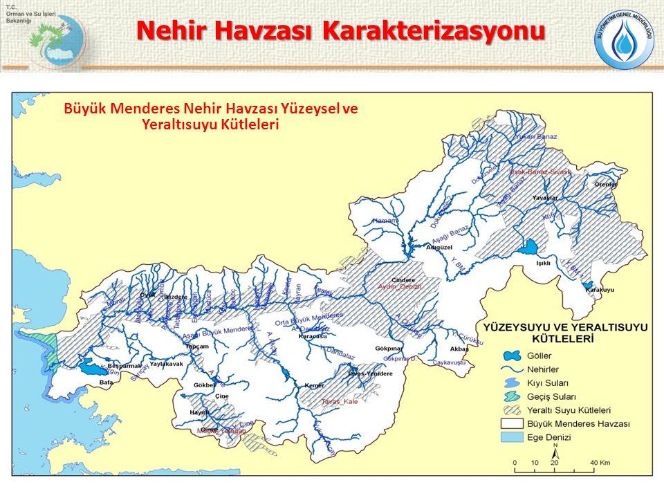 Büyük Menderes Nehir Havzası Yüzeysel ve Yeraltısuyu Kütleleri Nehir Havzası Karakterizasyonu