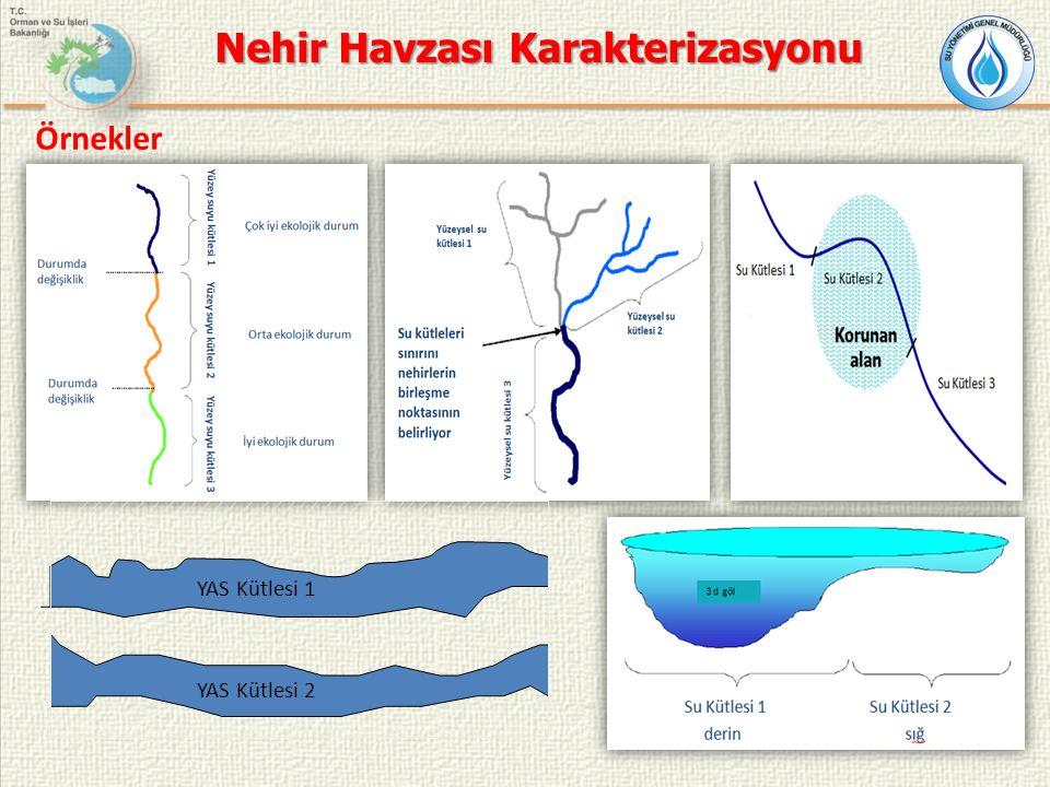 Örnekler YAS Kütlesi 1 YAS Kütlesi 2 Nehir Havzası Karakterizasyonu