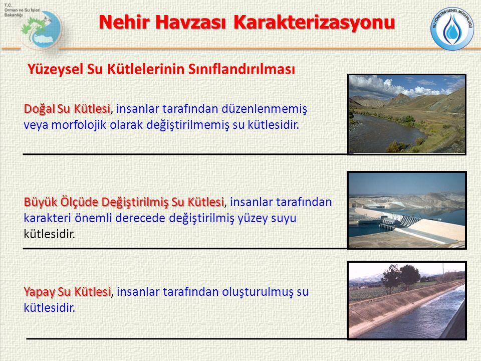 Yüzeysel Su Kütlelerinin Sınıflandırılması Doğal Su Kütlesi Doğal Su Kütlesi, insanlar tarafından düzenlenmemiş veya morfolojik olarak değiştirilmemiş su kütlesidir.