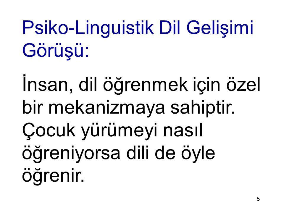 6 İnsan doğuştan dil ve konuşma yeteneğiyle doğar.