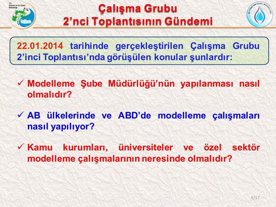 Çalışma Grubu 2'nci Toplantısının Gündemi 22.01.2014 tarihinde gerçekleştirilen Çalışma Grubu 2'inci Toplantısı'nda görüşülen konular şunlardır: Model