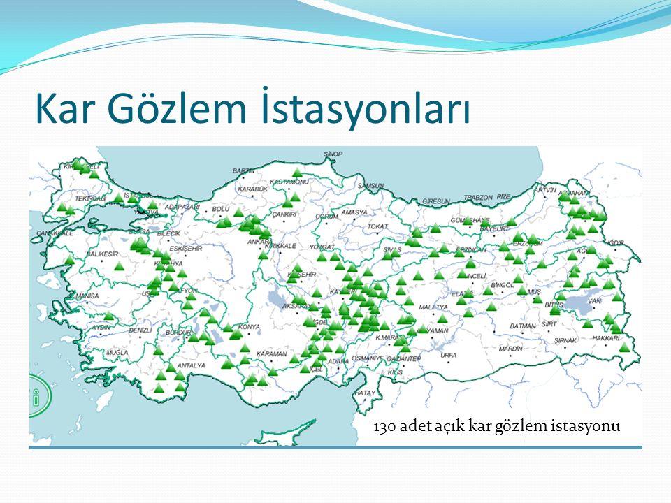 Kar Gözlem İstasyonları 130 adet açık kar gözlem istasyonu