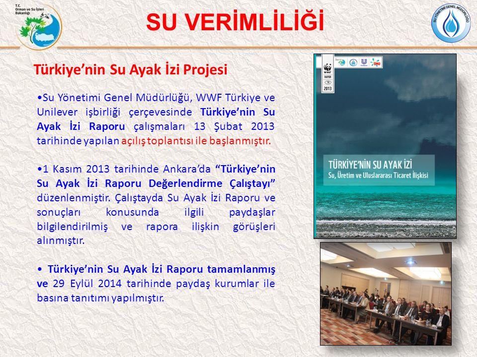 13 SU VERİMLİLİĞİ 13 Türkiye'nin Su Ayak İzi Projesi Su Yönetimi Genel Müdürlüğü, WWF Türkiye ve Unilever işbirliği çerçevesinde Türkiye'nin Su Ayak İ