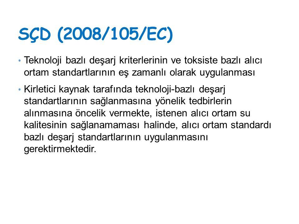 Avrupa'da Uygulanan Yaklaşım Endüstriyel Emisyonlara Direktifi Belirlenen MET'ler ile teknoloji bazlı deşarj standartları Su kalitesi bazlı deşarj standartları Çevresel Kalite Standartları Direktifi ÇKS bazlı emisyon limit değerleri Teknoloji bazlı deşarj standartları Kentsel Atıksu Arıtma Direktifi Kentsel atıksu artıma tesisleri ve bazı endüstriler için deşarj standartları