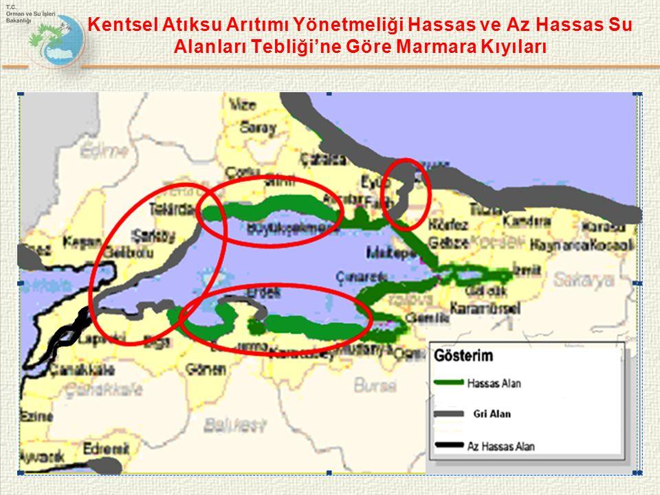 Kentsel Atıksu Arıtımı Yönetmeliği Hassas ve Az Hassas Su Alanları Tebliği'ne Göre Marmara Kıyıları 23