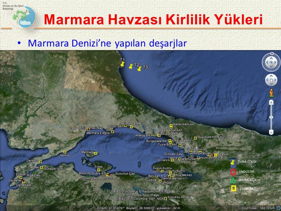 Marmara Denizi'ne yapılan deşarjlar 7 Marmara Havzası Kirlilik Yükleri