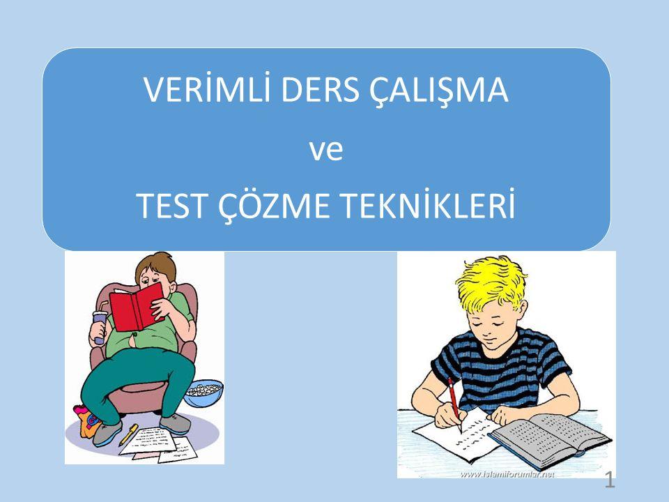 TEST ÇÖZME TEKNİKLERİ TEOG test tekniğine dayalı sınavdır.