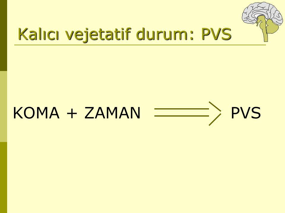 KOMA + ZAMANPVS Kalıcı vejetatif durum: PVS