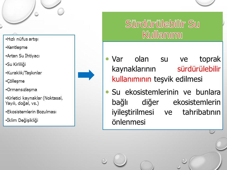 SU KALİTE KRİTERLERİNİN GELİŞTİRİLME ESASLARI Sözel Kriterler: Su kalite hedeflerini belirlemek için sözel açıklamalardır.