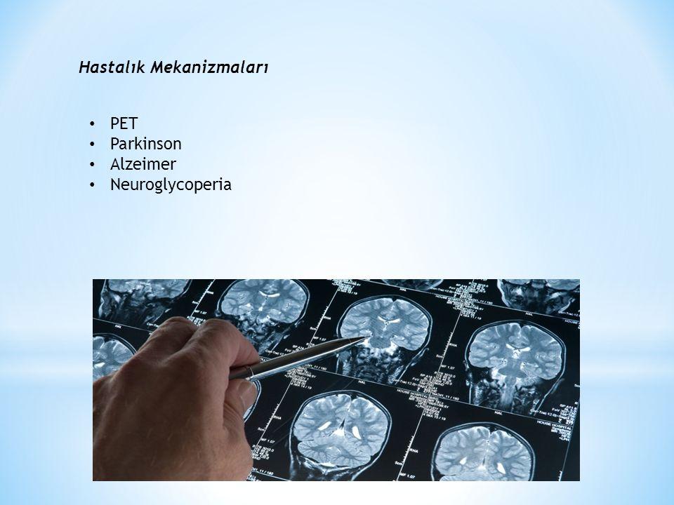 Hastalık Mekanizmaları PET Parkinson Alzeimer Neuroglycoperia