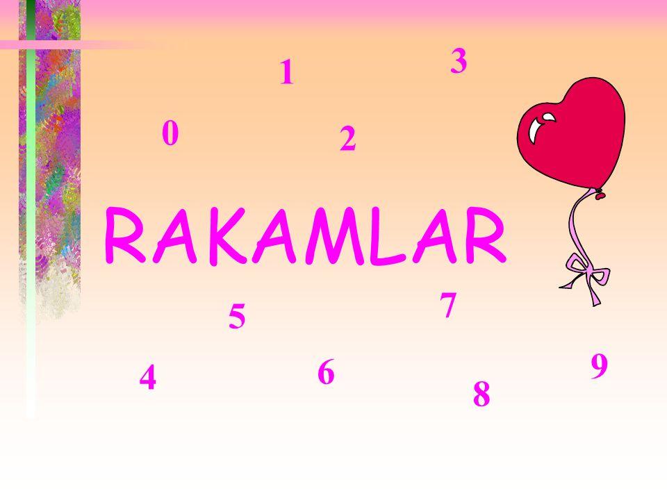 RAKAMLAR 0 1 2 3 4 5 6 7 8 9