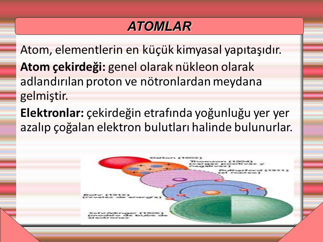 PROTON Atomun çekirdeğinde bulunur ve artı yüklüdürler
