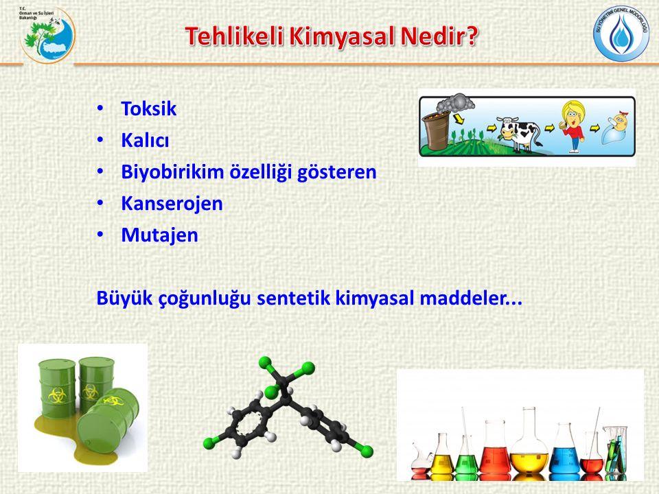 Endüstriyel faaliyetlerde kullanılan kimyasallar Kişisel bakım ürünleri Tarım ilaçları İlaçlar Deterjanlar Metaller...