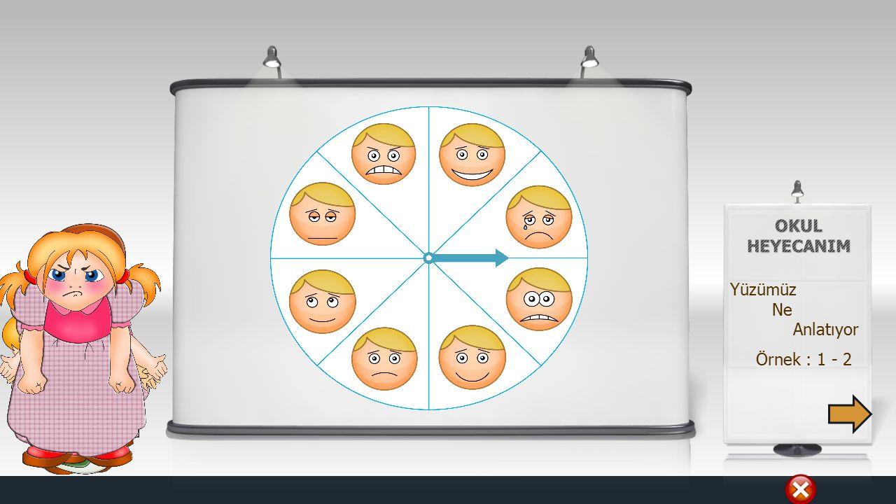 Örnek : 1 - 2 Yüzümüz Ne Anlatıyor