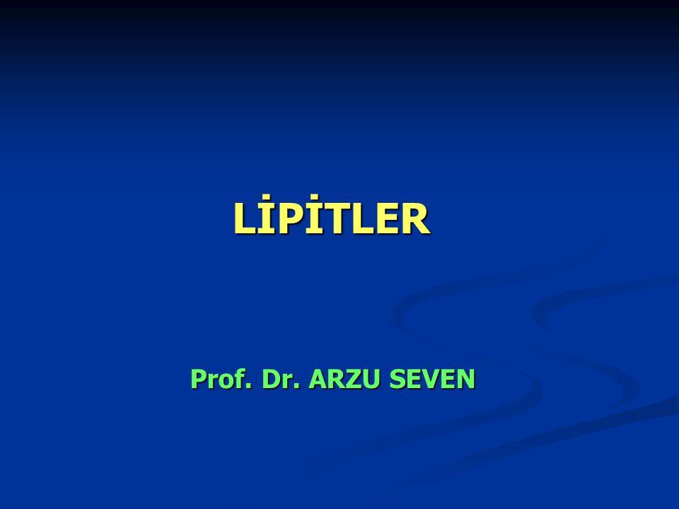 LİPİTLER Prof. Dr. ARZU SEVEN