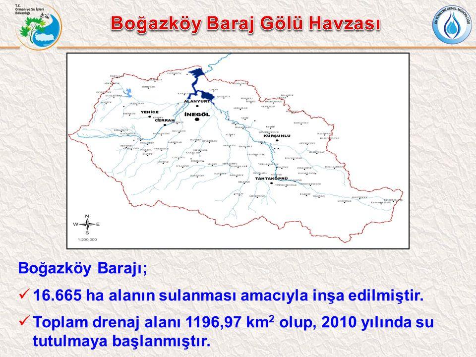 Boğazköy Barajı; 16.665 ha alanın sulanması amacıyla inşa edilmiştir. Toplam drenaj alanı 1196,97 km 2 olup, 2010 yılında su tutulmaya başlanmıştır.