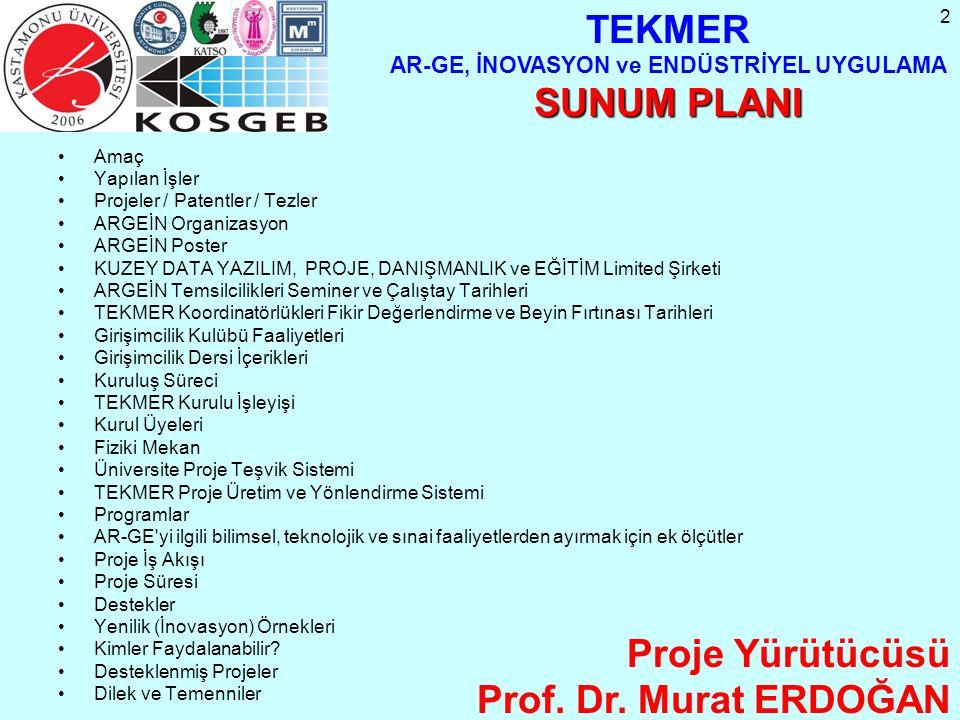 2 Amaç Yapılan İşler Projeler / Patentler / Tezler ARGEİN Organizasyon ARGEİN Poster KUZEY DATA YAZILIM, PROJE, DANIŞMANLIK ve EĞİTİM Limited Şirketi