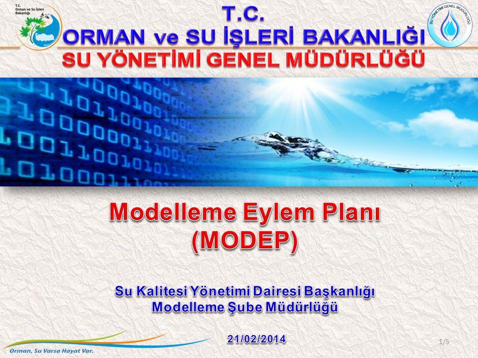 MODEP Havza Yönetim Modeli Sulak Alan ve Göl Hidrolojisi ve Ekolojisi Modelleri Ötrofikasyon Modeli Akarsular, Göller, Kıyı ve Geçiş Suları (Yerüstü) Alıcı Ortam Standardı (Çevresel Kalite Standardı) Belirlenmesi için Kulanılacak Modeller Yeraltı Suyu Hidrolojisi ve Kalite Modeli Alıcı Ortam Standardından (Çevresel Kalite Standardı) Deşarj Standardına Geçiş Modeli Hidrolojik ve Hidromorfolojik Modelleri Kapsayan Hidrodinamik Model Taşkın Yönetim Modeli Kuraklık Yönetim Modeli İklim Değişikliğine Uyum Modeli Ekolojik ve Biyolojik İndeks Modeli Modelleme için Öncelikli İhtiyaç Duyulan Alanlar; 1) Sapanca Gölünün Hidrolojik ve Ekolojik Modellenmesi 2) Mamasın, Eğirdir ve Karacaören Baraj Gölerinin Özel Hüküm Açısından Modellenmesi 3) Beyşehir Gölünün Hidrolojik, Hidrojeolojik ve Ekolojik Modellenmesi 4) Nilüfer Çayı, Ergene, Nizip, Sacır Derelerinin Modellenmesi 2/5 MODEP Görüşler