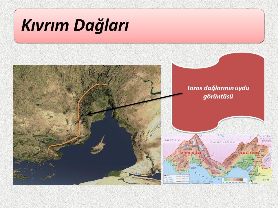 Kıvrım Dağları Toros dağlarının uydu görüntüsü