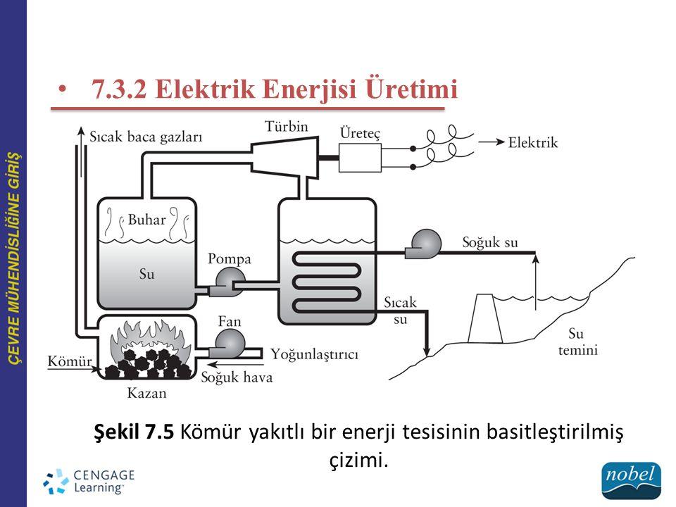 7.3.2 Elektrik Enerjisi Üretimi Şekil 7.5 Kömür yakıtlı bir enerji tesisinin basitleştirilmiş çizimi.