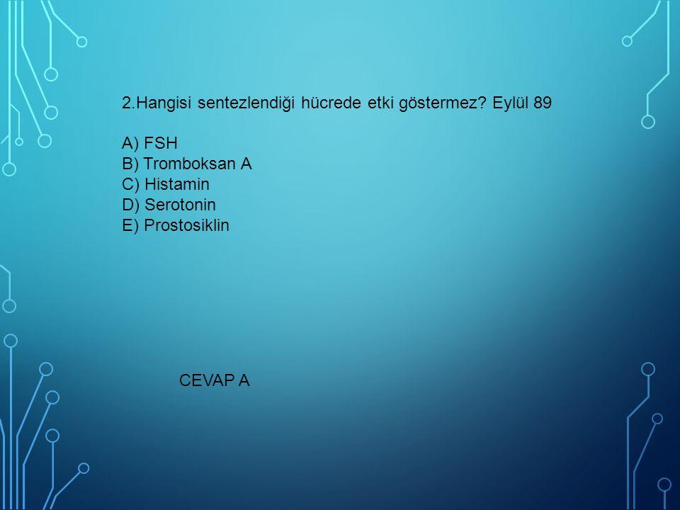 16.Aşağıdaki hormonlardan hangisi depolanmaz?TSG** A) ADH (Vazopressin) B) Kalsitonin C) T3 D) Kortizol E) Adrenalin CEVAP D