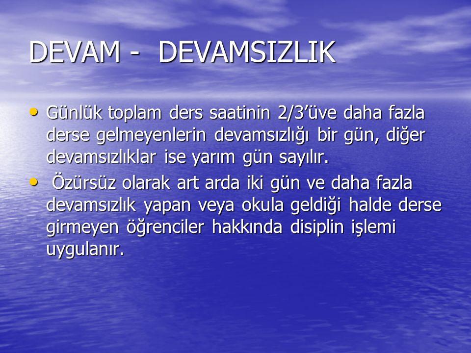 DERS SEÇİMİNDE DİKKAT EDİLMESİ GEREKEN NOKTALAR 11.