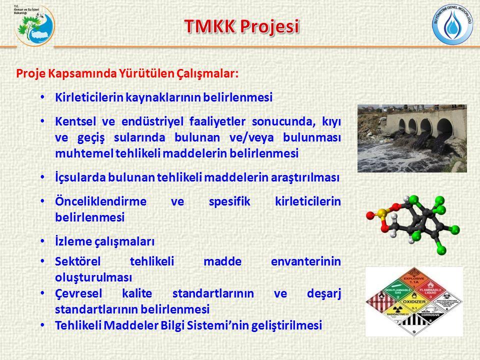 Pilot Alanlar: İzmit Körfezi İzmir-Nemrut ve Aliağa Körfezleri İskenderun Körfezi Samsun Limanı Projenin Süresi: 2012-2014 Yüklenici : TÜBİTAK MAM