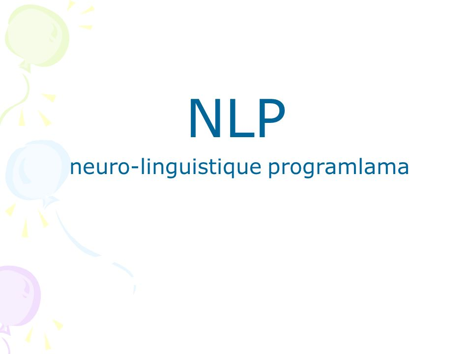 NLP neuro-linguistique programlama