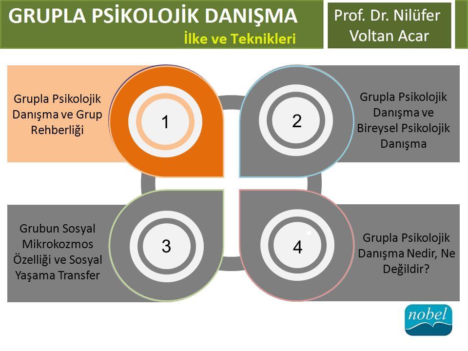 Grubun Sosyal Mikrokozmos Özelliği ve Sosyal Yaşama Transfer 3 Grupla Psikolojik Danışma Nedir, Ne Değildir? 4 Grupla Psikolojik Danışma ve Bireysel P