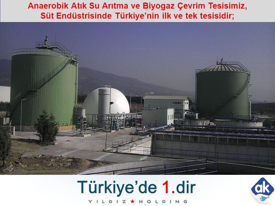 Türkiye'de 1.dir Anaerobik Atık Su Arıtma ve Biyogaz Çevrim Tesisimiz, Süt Endüstrisinde Türkiye'nin ilk ve tek tesisidir;