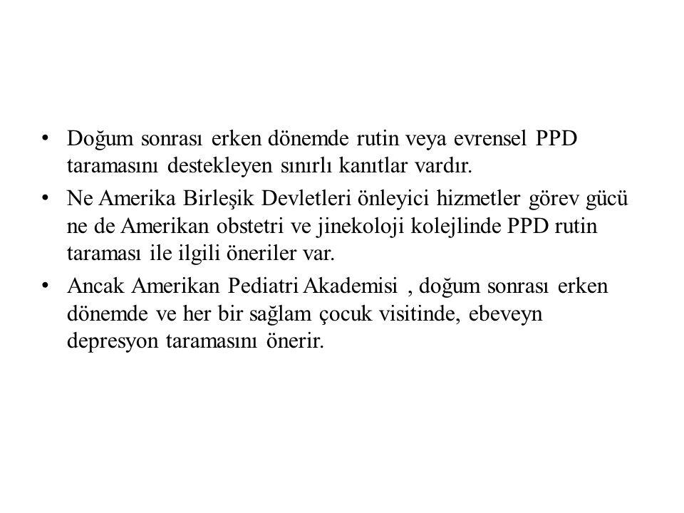 PPD tanısının prevalansı, klinik görüşmelerle değerlendirmeye dayanıyor; 4.