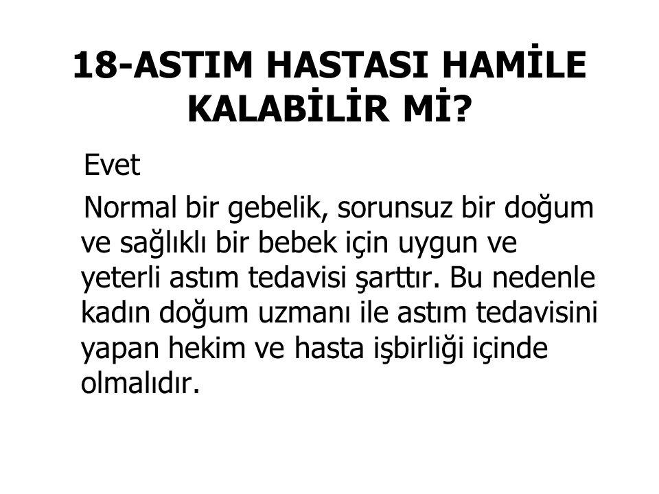 18-ASTIM HASTASI HAMİLE KALABİLİR Mİ.