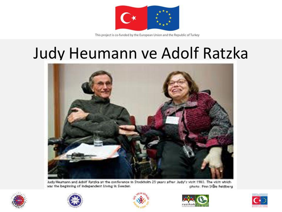Judy Heumann ve Adolf Ratzka