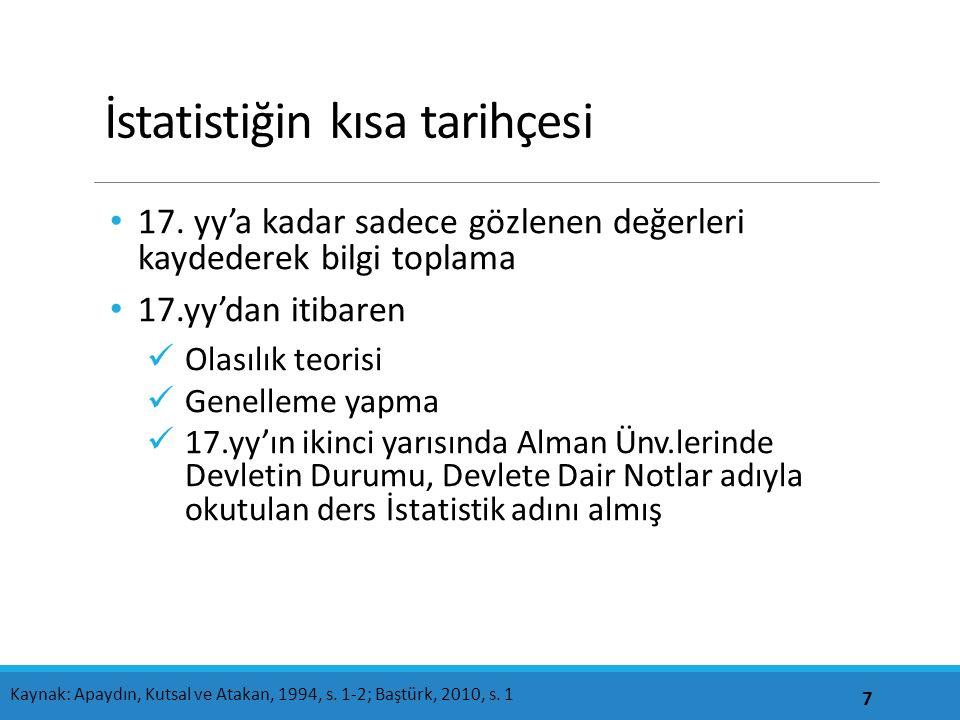 İstatistiğin kısa tarihçesi 17.