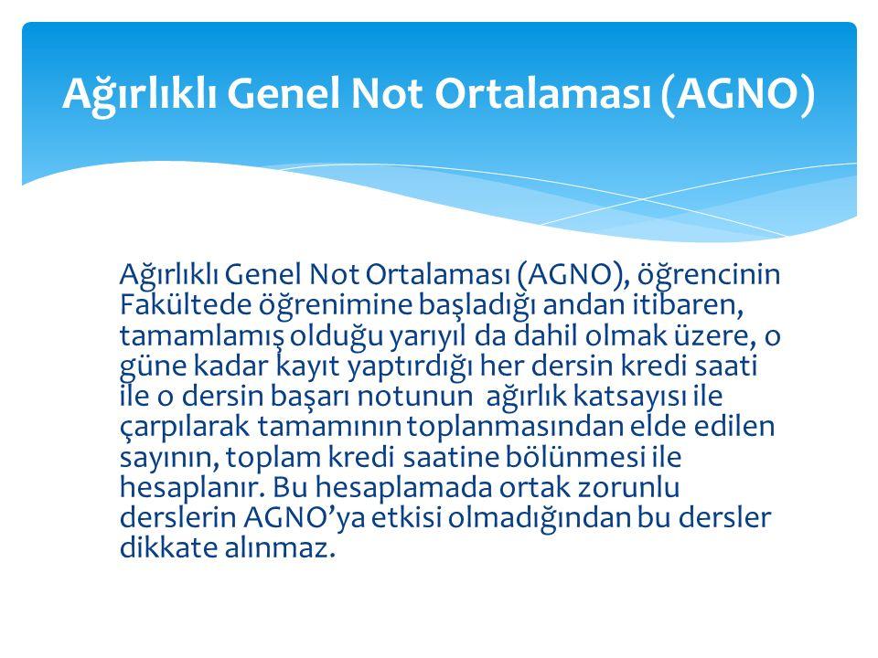  G notu ortak zorunlu dersler Türk Dili Yabancı Dil, İnkılap Tarihi) için kullanılır.