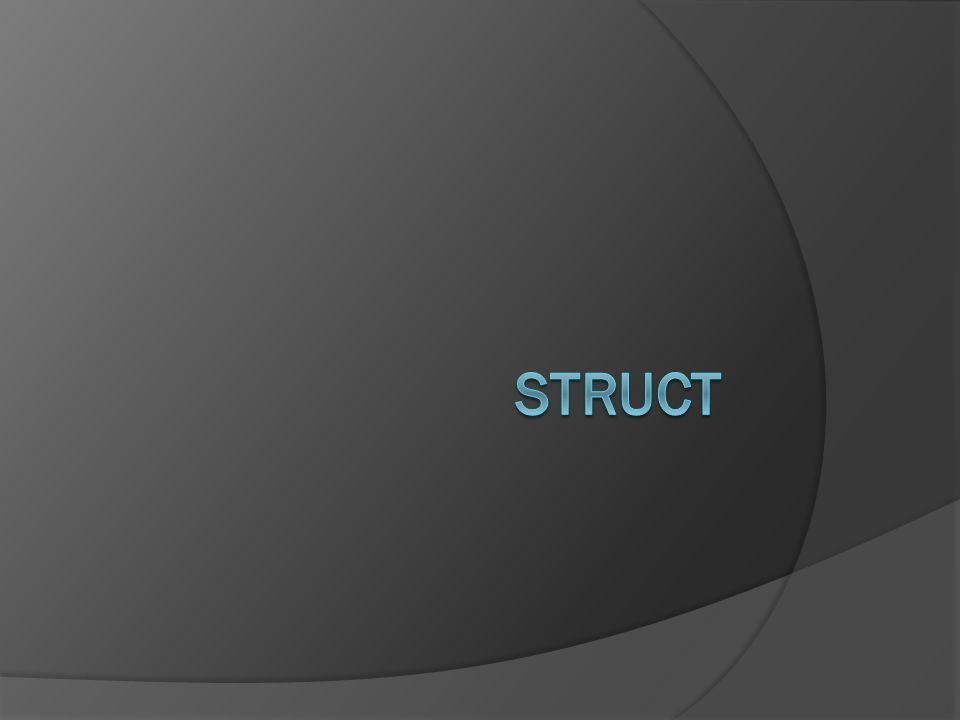Bir yapı (struct) basit değişkenler topluluğu şeklinde tanımlanabilir.