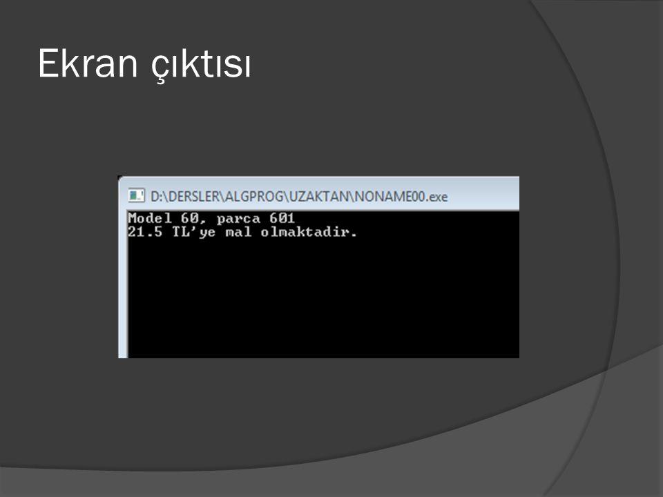 Örnek program #include main() { struct OGRENCI { int Vize; int Final; char Ad[25]; } ;