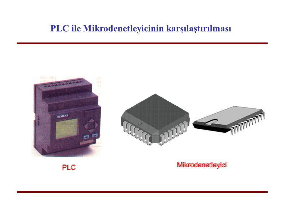 PLC ile Mikrodenetleyicinin karşılaştırılması Mikrodenetleyici PLCPLC