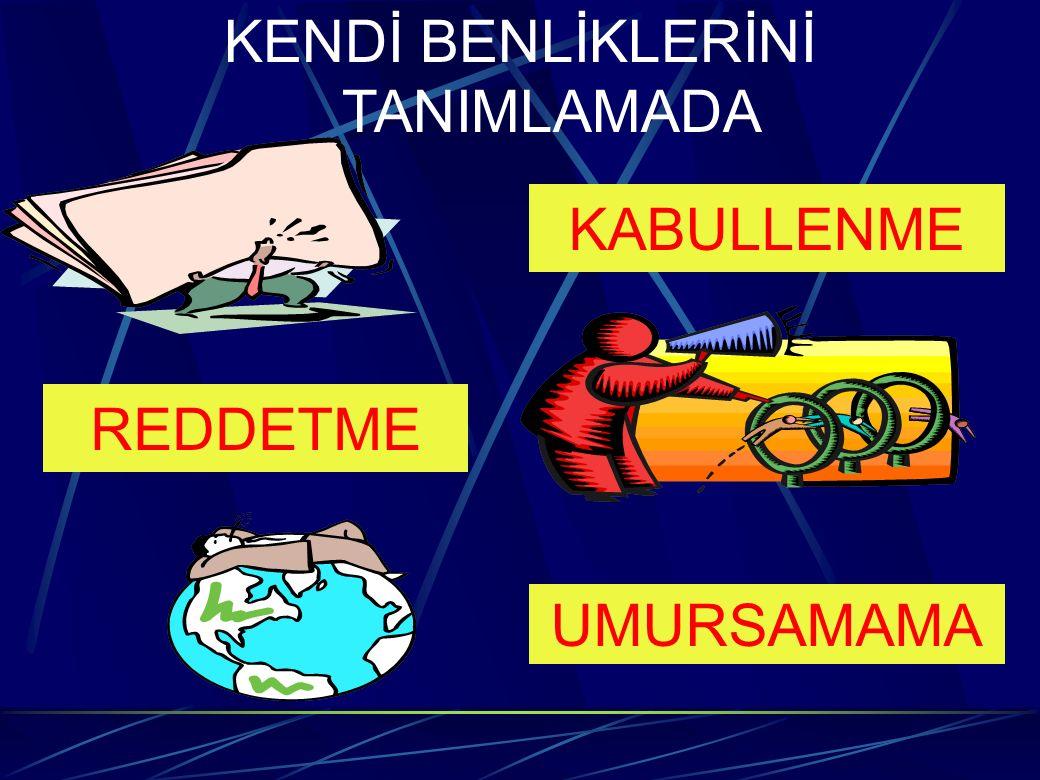 KENDİ BENLİKLERİNİ TANIMLAMADA KABULLENME REDDETME UMURSAMAMA