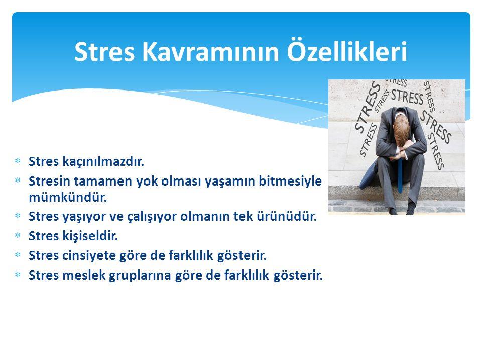  Stres kaçınılmazdır.  Stresin tamamen yok olması yaşamın bitmesiyle mümkündür.  Stres yaşıyor ve çalışıyor olmanın tek ürünüdür.  Stres kişiseldi