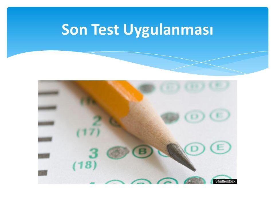 Son Test Uygulanması