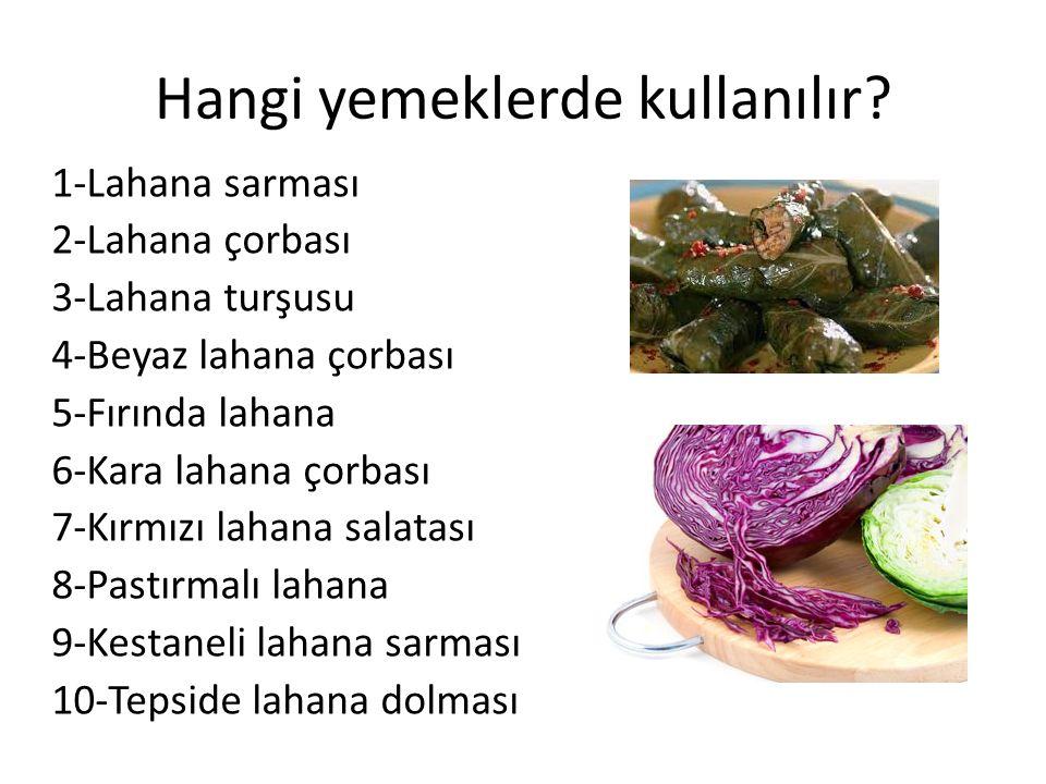 Hangi yemeklerde kullanılır.