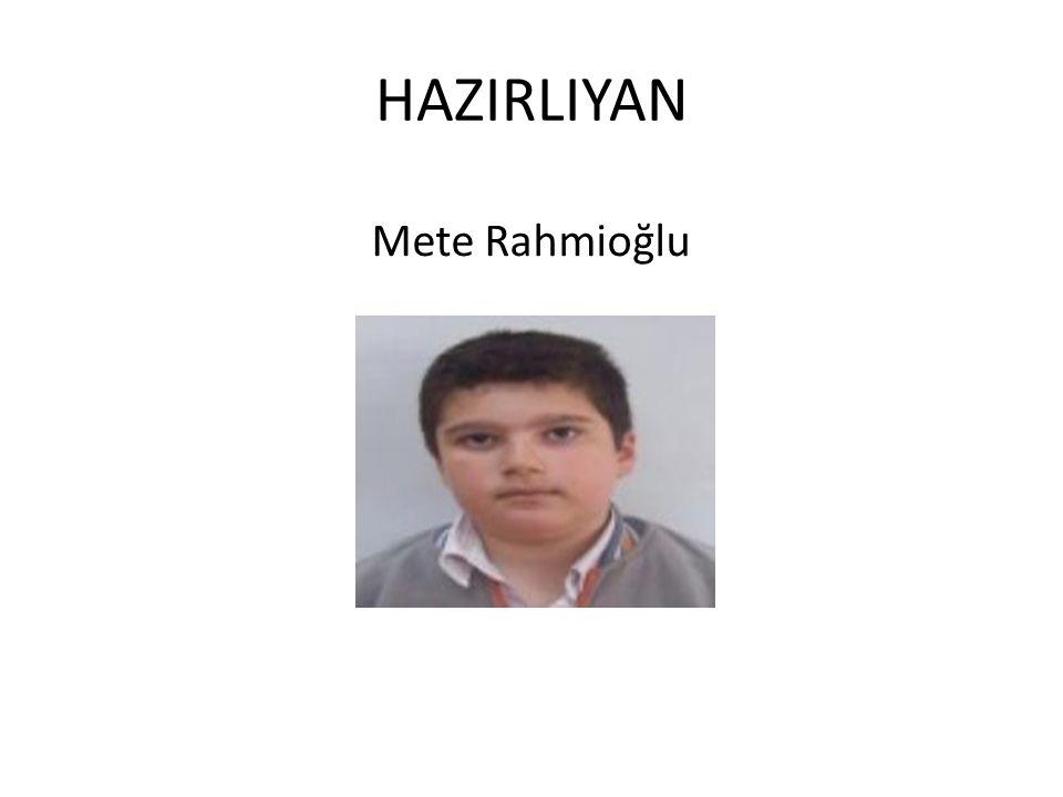 HAZIRLIYAN Mete Rahmioğlu