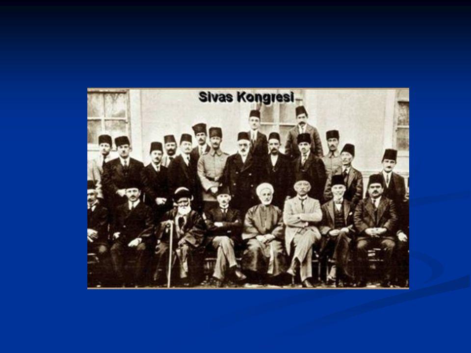 Sivas Kongresi (4-11) Amasya Tamimi'nde toplanması kararlaştırılan Sivas Kongresi öncesi Damat Ferit hükümeti; kongrenin toplanmasını engellemek amacı