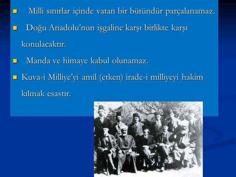 Erzurum Kongresi (23 Temmuz ) 7/8 Temmuz gecesi resmi görevinden ve askerlikten ayrılan Mustafa Kemal, Doğu Anadolu Müdafa-i Hukuk cemiyeti tarafından