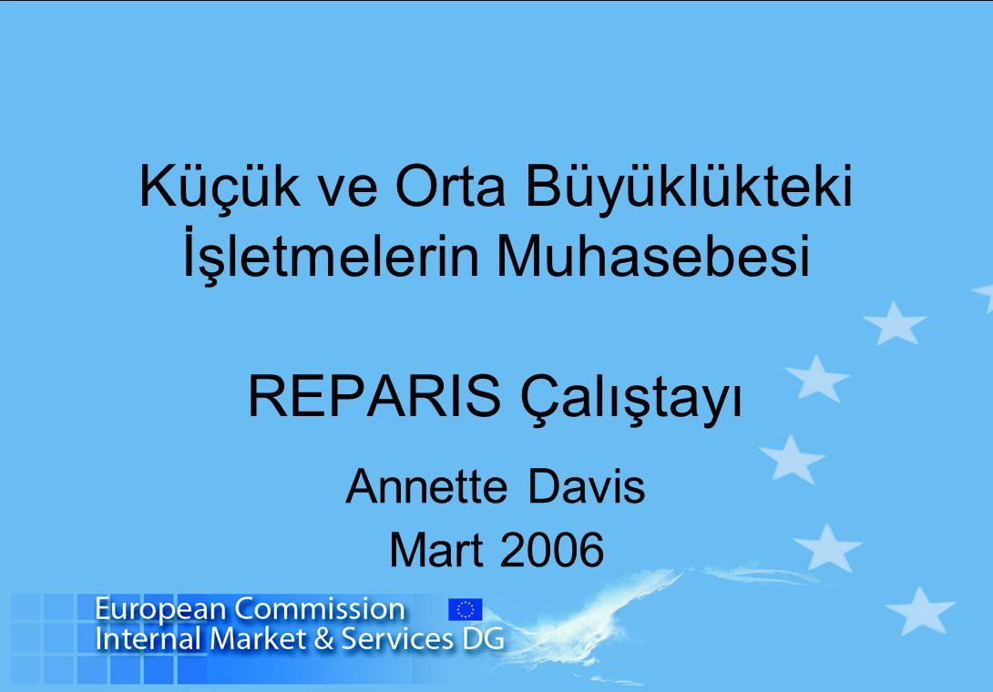 Küçük ve Orta Büyüklükteki İşletmelerin Muhasebesi REPARIS Çalıştayı Annette Davis Mart 2006