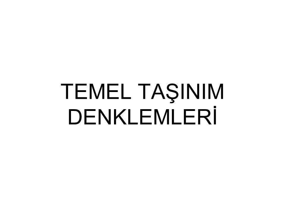 TEMEL TAŞINIM DENKLEMLERİ