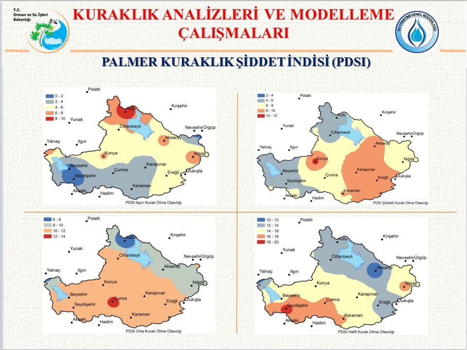 PALMER KURAKLIK ŞİDDET İNDİSİ (PDSI) KURAKLIK ANALİZLERİ VE MODELLEME ÇALIŞMALARI
